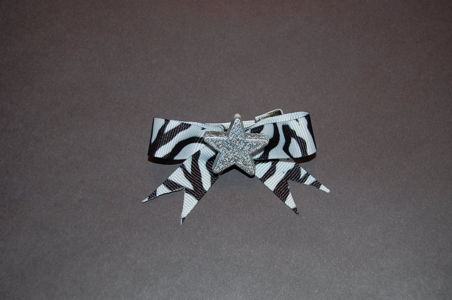 Animal Print Bow-Black Zebra