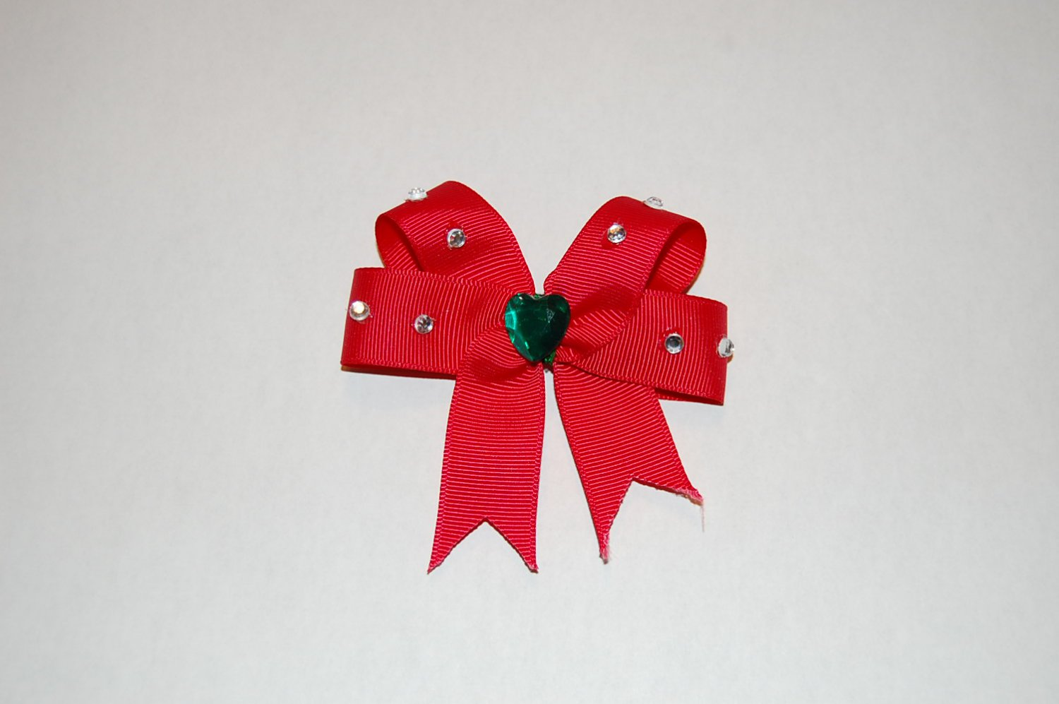 Embellished Hairbow -Red, Hair Clip