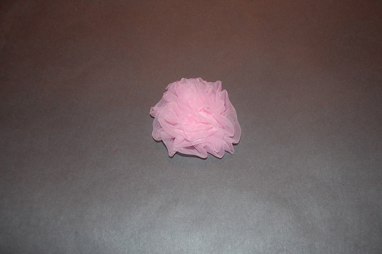 Chiffon Rosette on Alligator Clip, Pink