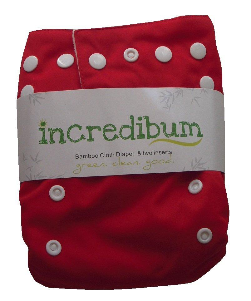 incredibum One Size Bamboo Cloth Diaper - Firecracker