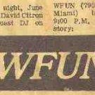WFUN Florida Final Hours  January 11, 1976  2 CDs