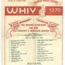 WHIY Florida   November 4, 1965- Tom Dole Country Show    1 CD