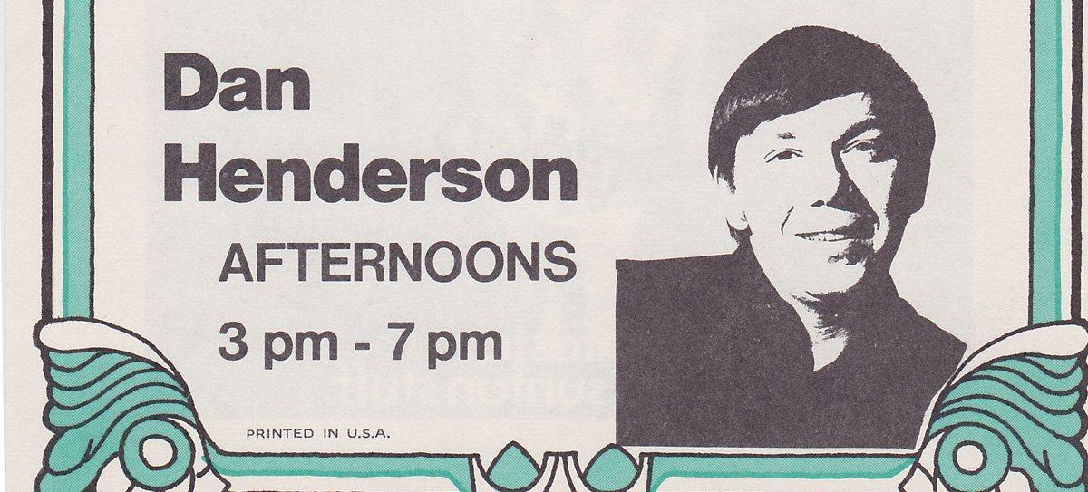 WKNR Dan Henderson  9-7-70  1 CD