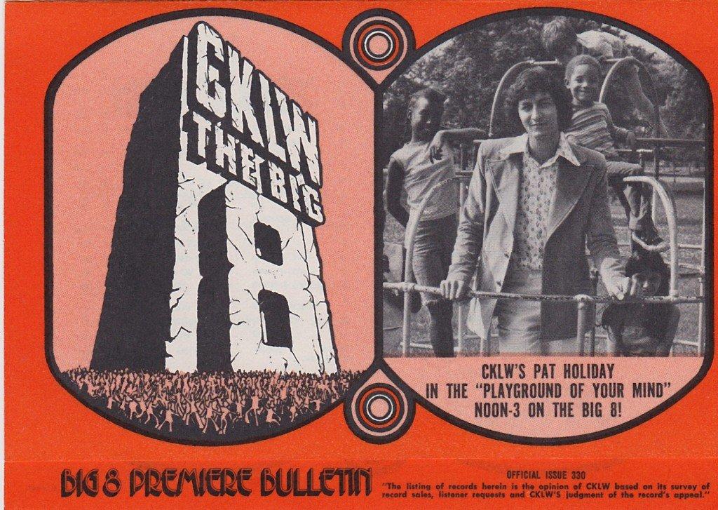 CKLW Pat Holiday  8/7/73  1 CD