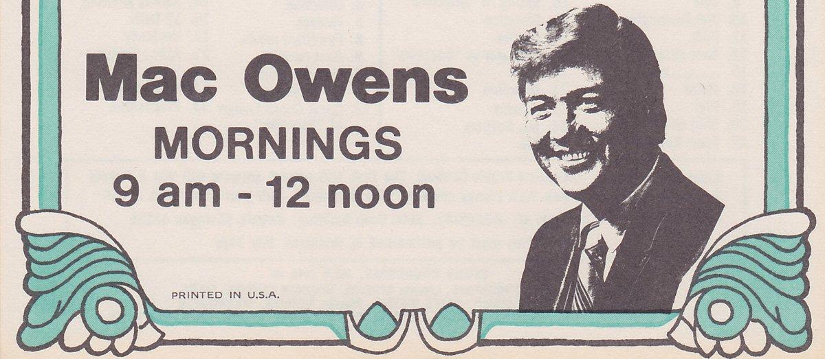 WKNR Mac Owens 8/21/1970  1 CD