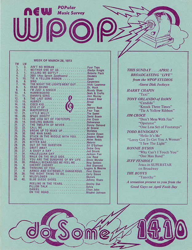 WPOP  Bobby Rivers-Tim Richards-Pat Holiday  1/01/1971  3 CDs