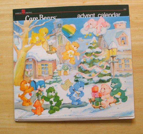 Vintage Care Bears Advent Calendar Nip 1983 American Greetings