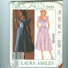 Vintage Sewing Pattern Laura Ashley Dress Size 6 McCall's 2430 UNCUT