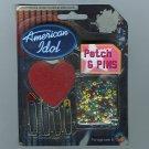 2002 American Idol Novelty Memorabilia First Season Pins and Patch NIP