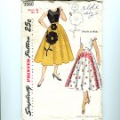 Vintage Sewing Pattern Retro Circle Skirt 1951 UNCUT Size L Simplicity 3560