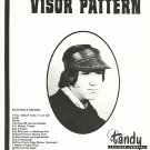 Vintage Sewing Pattern Tandy Leather Visor Hat
