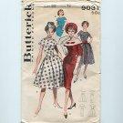 50's Cape Collar Dress Vintage UNCUT Sewing Pattern Butterick 9031 S12 (bust32)