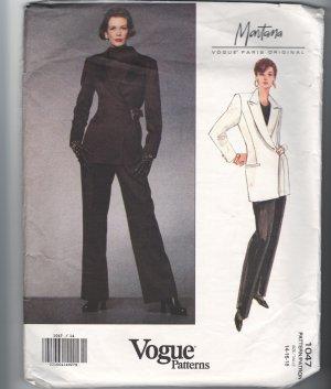 Vogue Montana Sewing Pattern Jacket Pants 1047 Size 14-18 UNCUT
