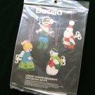 Vintage Bucilla Wind Up Toys Felt Christmas Jeweled Ornament Kit NIP