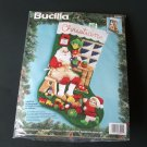 Santa's Workshop Jeweled Applique Christmas Stocking Kit NIP 1994 Bucilla
