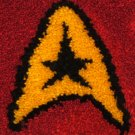"Star Trek Star Fleet Emblem Latch Hook Hooking 16"" by 26"" Rug Kit"