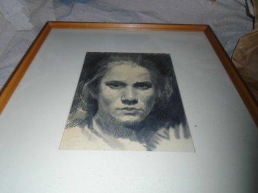 Original Pencil Portrait Otto Fischer-Lamberg German Impressionist Artist