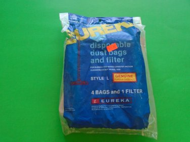 4 Vacuum Bags Eureka Old Style L for 1000 Series Canister