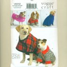 Vogue Dog Coat Pattern UNCUT V8312 Linda Carr
