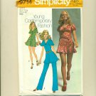 Vintage Sexy Mini Dress 1971 Sewing Pattern Size 8 (bust 31 1/2) Simplicity 9714 UNCUT