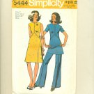 "Vintage Mod Dress Tunic Pants 1972 Sewing Pattern Size 8 (bust 31 1/2"") Simplicity 5444 UNCUT"