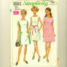 "Vintage Mod Colorblock Dress 1969 Sewing Pattern Size 8 (bust 31 1/2"") Simplicity 8083 UNCUT"