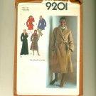 "Elegant Wrap Coat 1979 Sewing Pattern Size 40 (bust 44"") Simplicity 9201 UNCUT"