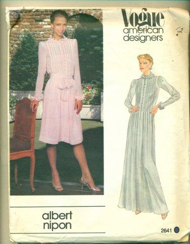 Vogue Albert Nipon Dress Sewing Pattern 2641 Size 12 UNCUT