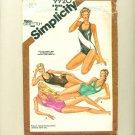 """80s Halter Bathing Suit Swimsuit Sewing Pattern Size 10 (bust  32 1/2"""") Simplicity 9920 UNCUT"""