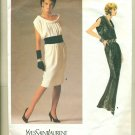 Vogue YSL Elegant Evening Dress Sewing Pattern 1720 Size 10 UNCUT
