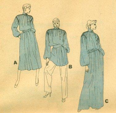 Vogue Bill Blass Pullover Dress Sewing Pattern 2840 Size Small UNCUT
