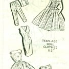 Vintage Kate Marchbanks Rockabilly Doll Clothes Pattern Mail Order UNCUT 8203-T