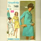 Vintage Mod Suit 1967 Sewing Pattern Size 12 (bust 34) Simplicity 7480 UNCUT