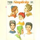 Vintage 1967 Sewing Pattern Beret Scarf Hat Simplicity 7326 UNCUT