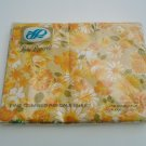 Vintage Lady Pepperell 70s Hippie Sheet NIP GROOVY Flowers Double Flat Percale