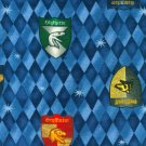 "Scarce Harry Potter Fabric Quilt Quilting House Shields 18"" by 31"""