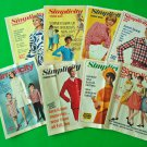8 Simplicity Pattern Fashion News Booklets Retro Sewing 1960s MOD