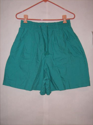 Simply Basic Aqua Blue Cotton Shorts size XL