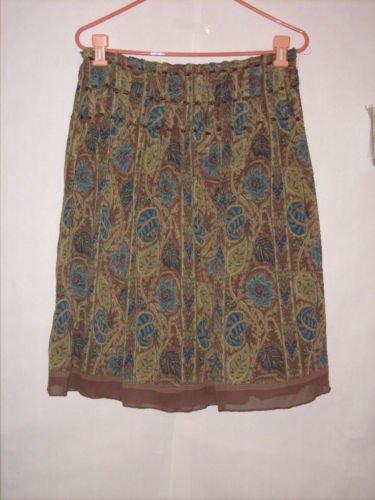 Think Tank knee length Sheer Pleated Skirt Size 8