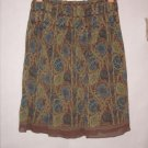 Think Tank knee length Sheer Pleated Skirt Size 8