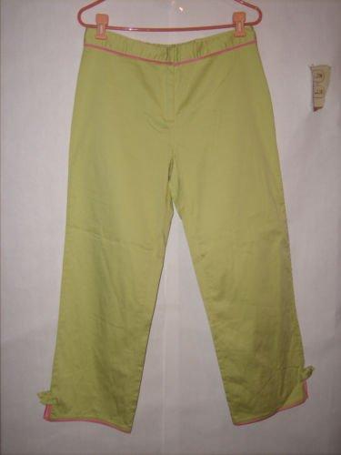 Sportelle Light Green Flat Long Pant Capris Size L EUC