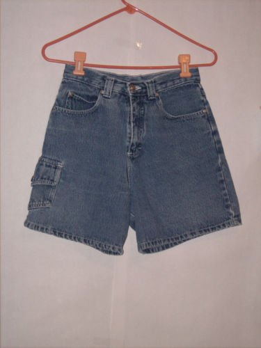 Nick & Sarah Blue Denim Cargo Jean Shorts Size 7/8