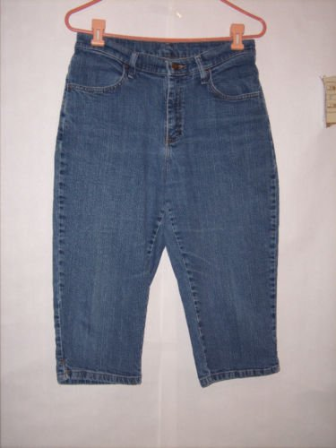 Riders Blue Denim Jean Capris size 10 Petite