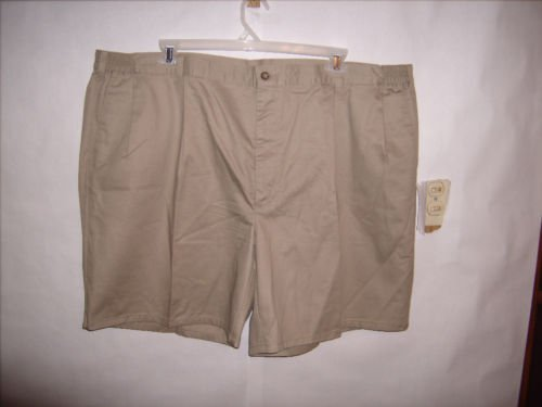 Men's Haggar Clothing Co. Khaki Tan Shorts size 49 EUC