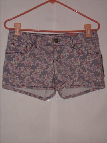 Mudd Flower print denim Short Shorts size 7 juniors NWT
