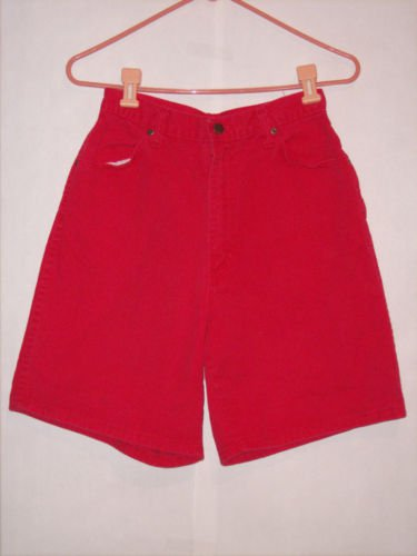 USA Red Denim Jean Shorts size 12 AVG
