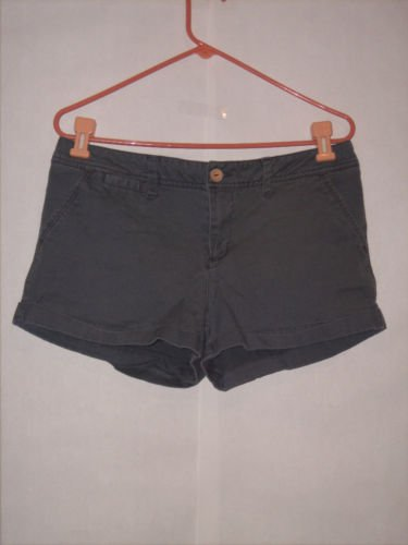 OP Olive Green Short Shorts size 13 Juniors rolled hem