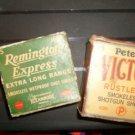 Vintage Remington Express & Peters Victor Boxes Shotgun