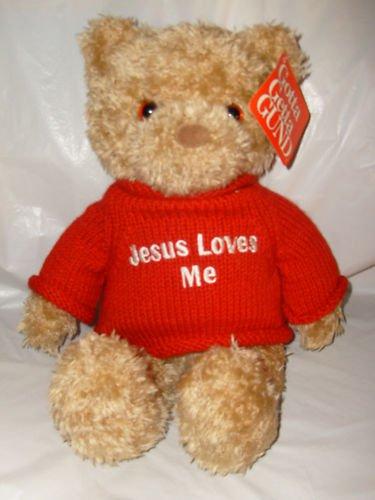 """Gotta Get Gund Bear """"Jesus Loves Me"""" Edition Rare"""