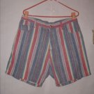 Camptown Club Light Denim Shorts size 38 stripes
